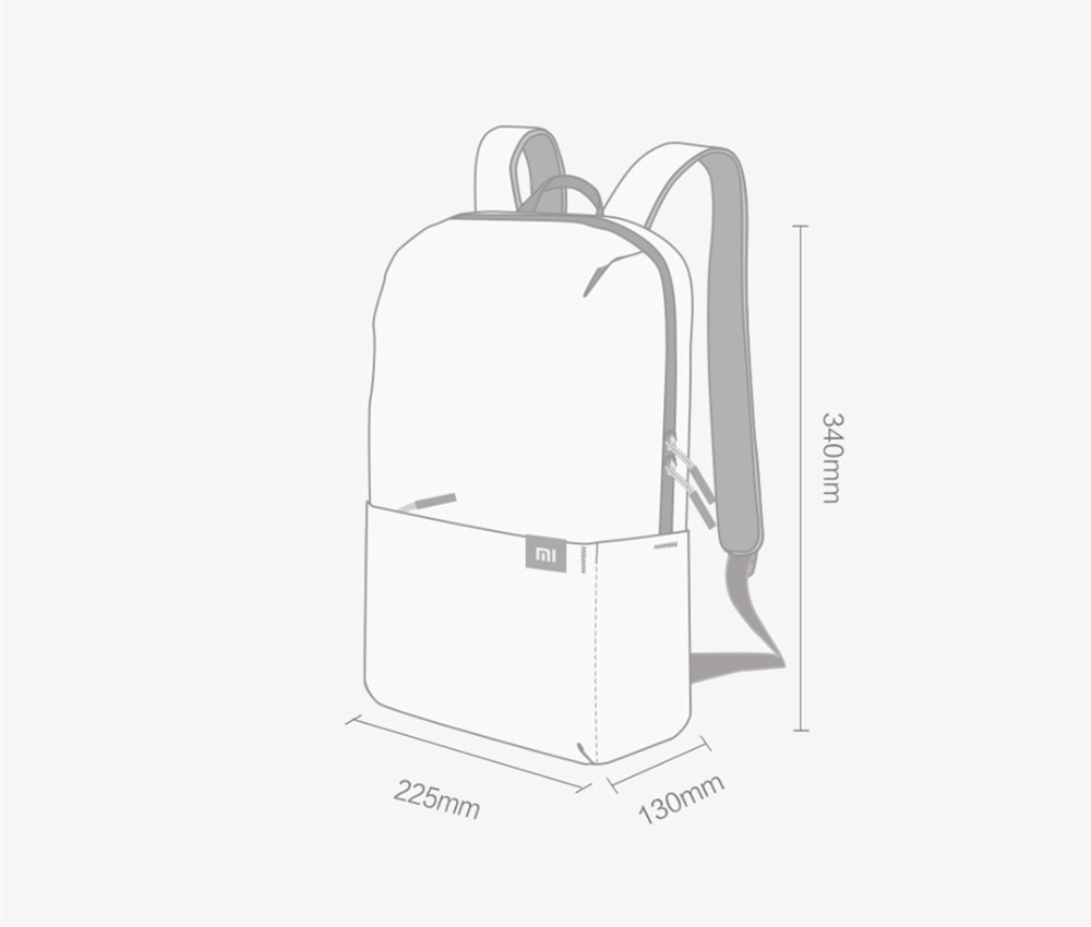 Original Xiaomi 10L Backpack Bag Women Men Sports Bag Level 4 Water Repellent Travel Camping Backbag 20