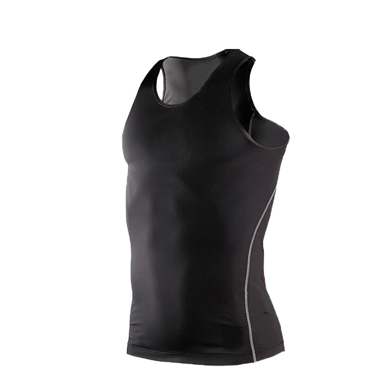 SHENGSHINIAO Мужчины Спорт Фитнес Одежда Close-fitting Soft Breathable Quick-Dry Training Vest