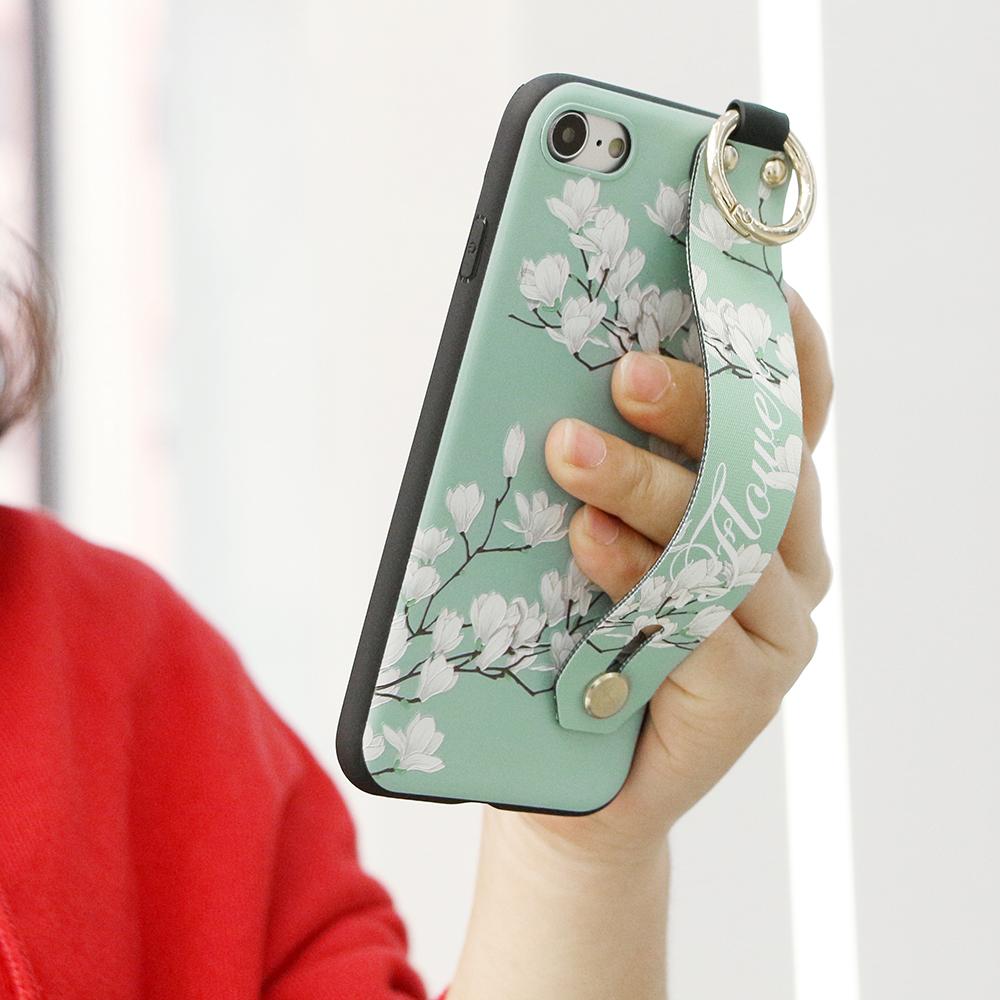 Урожай цветок Шаблон Ремешок Кольцо Ручка Стенд Защитный Чехол Для iPhone XR / XS/XS Макс / X / 8/8 Plus/7/7 Plus / 6s / 6s Plus/6/6 Plus