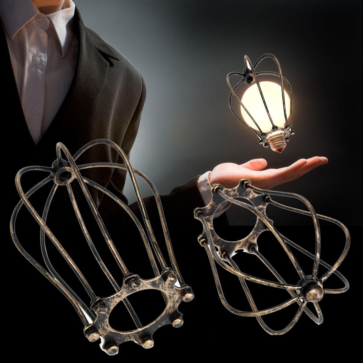 Марочные проблема железной проволоки клетка шарика охранник тень фары промышленный домашний декор свет