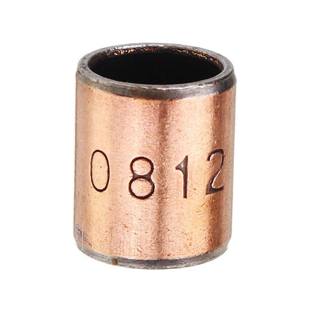 Machifit 10pcs 8x10x12mm Ball Bearing Bushing Copper Alloy Bearing Bushing