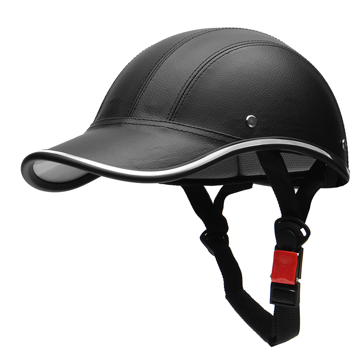 24aadc322 Half Helmet Baseball Cap Style Safety Hard Hat Open Face For Motorcycle  Bike Scooter