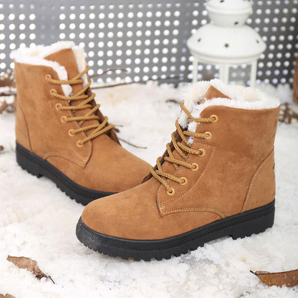 0afd4792a08 US Size 5-12 Women Winter Keep Warm Flat Plush Snow Boots Ankle Short Boots
