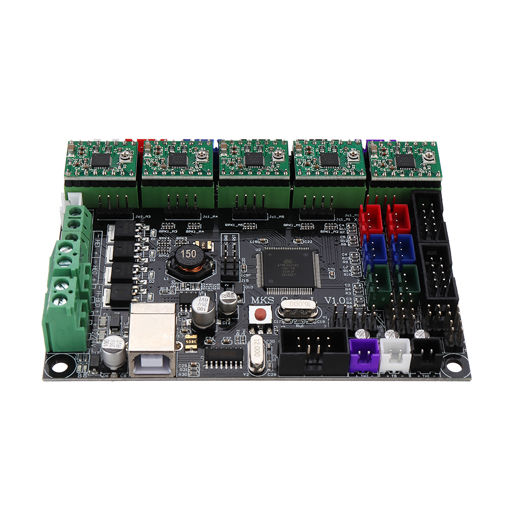 MKS-GEN L Integrated Controller Mainboard + TL-touch Sensor with A4988 Driver/Heatsink/Lines Kit for 3D Printer