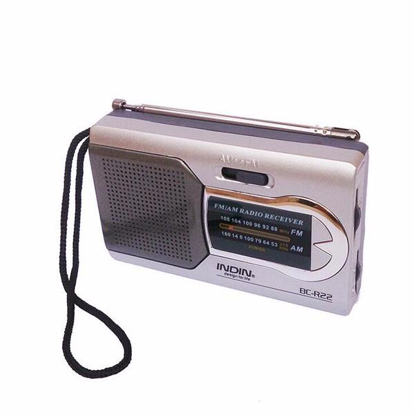 Indin BC-R22 Тонкий AM / FM Mini Portable World Приемник Стереодинамики Музыкальный плеер