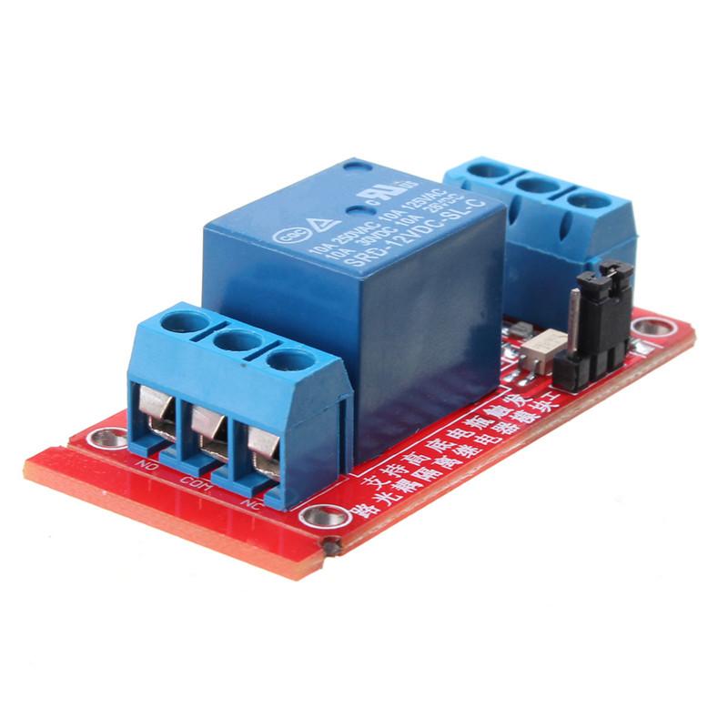 1-канальный модуль реле оптрона 12V Level Trigger Geekcreit для Arduino - продукты, которые работают с официальными платами Arduino