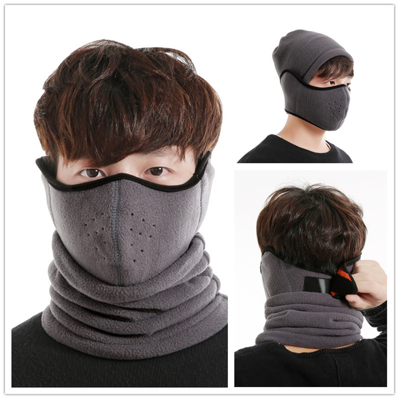 Winter Cycling Bicycle Ski Beanie Hat Face Mask Set Out