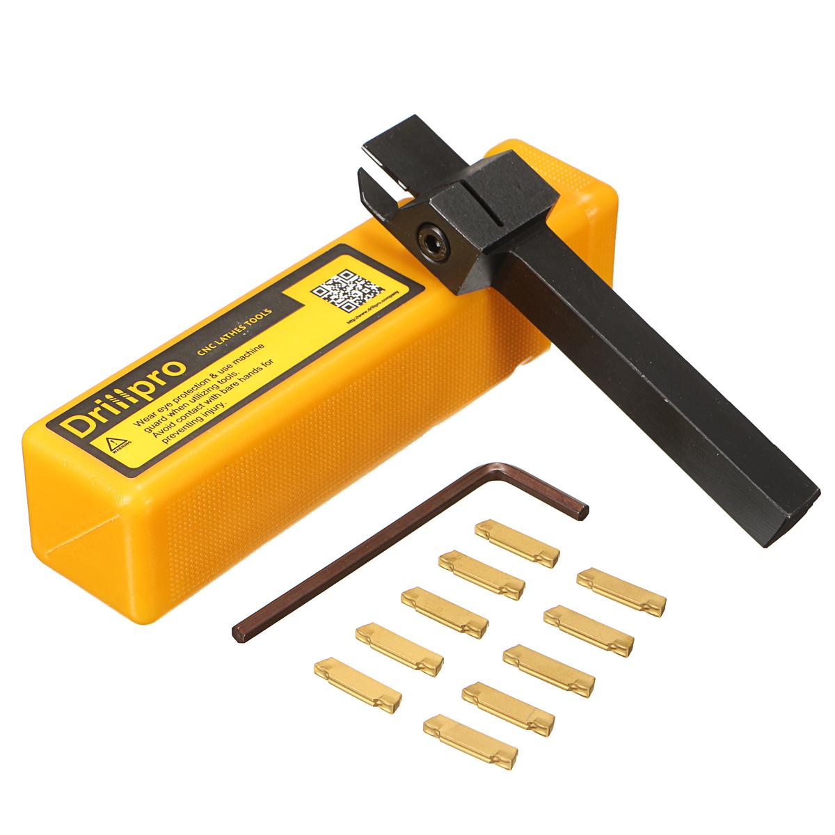 MGEHR 1010-2 10x10 x100mm Паз Инструмент Держатель с 10шт. MGMN200 Вставной нож для резки 2 мм
