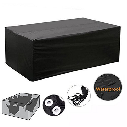 Outdoor Patio Waterproof Dustproof Folding Furnitur Cover Rectangular Table Chairs Protective Cover