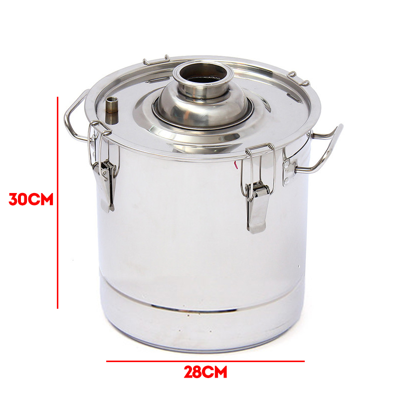 20L/5Gal W*ine Alcohol Water Distiller Moonshine Still Boiler Stainless Copper With Water Pump 20