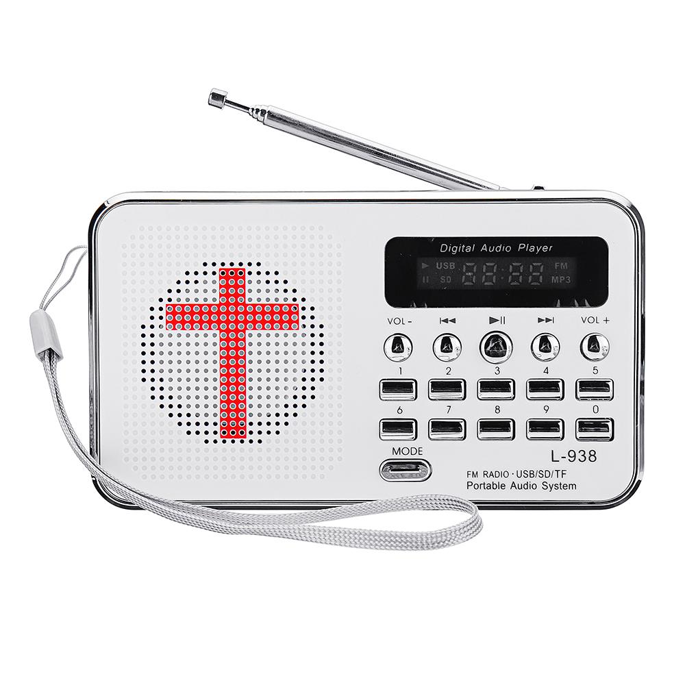 Библия MP3 Аудио Музыкальный плеер Портативный мини FM Радио TF USB LED Дисплей Функция цифровой клавиатуры для подарков старейшин
