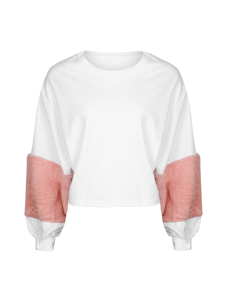Вскользь Женское Розовый Толстовки из искусственной шерсти