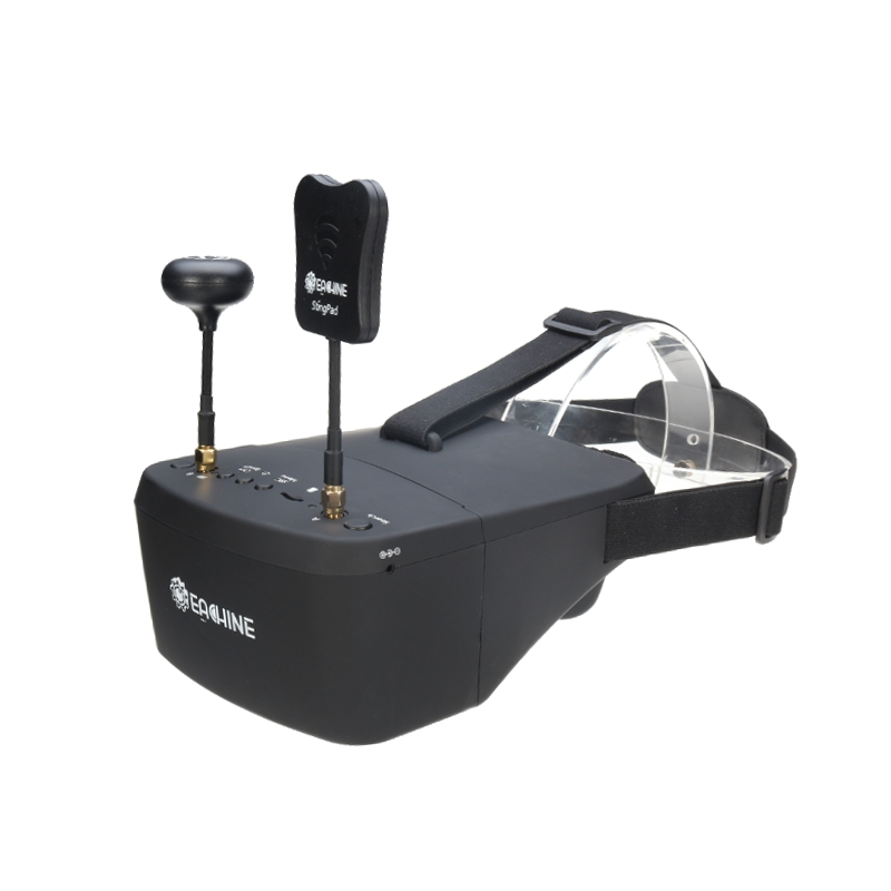 Eachine EV800D 5.8G 40CH Vielfalt FPV Schutzbrille 5 Inch 800*480 Video Headset HD DVR eingebettete Batterie
