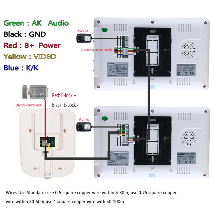 ENNIO SY819M12 7 Inch Video Door Phone Doorbell Intercom System Kit on