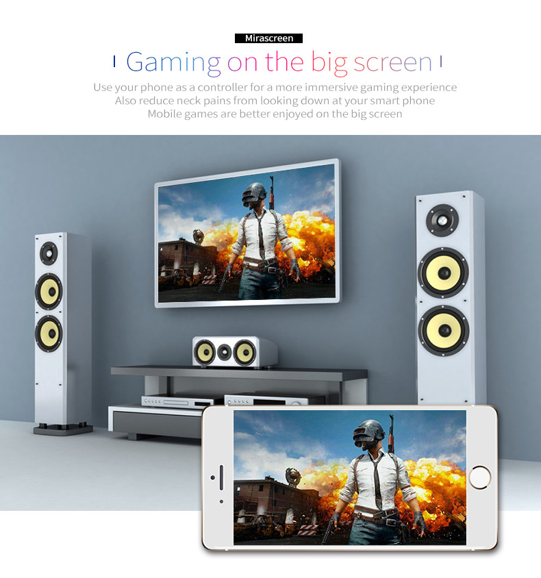 MiraScreen G4 1080P Wireless WiFi Display Dongle TV Stick Miracast DLNA for  iPhone Android