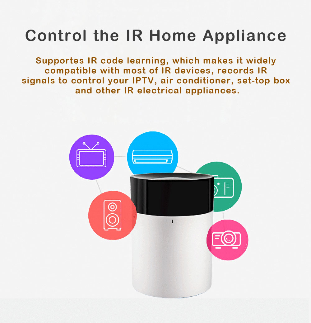 APP Control IR Infrared Remote Control Switch WiFi Smart Controller for  Alexa Echo for Google Home