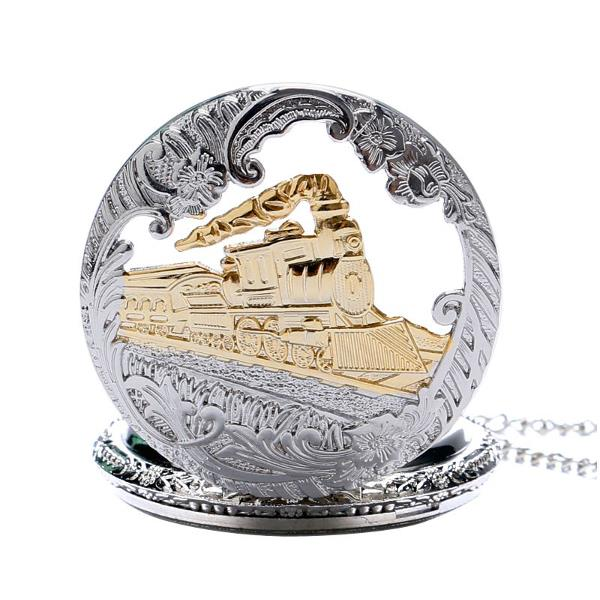 DEFFRUN Fashion Train Carved Openable Hollow Steampunk