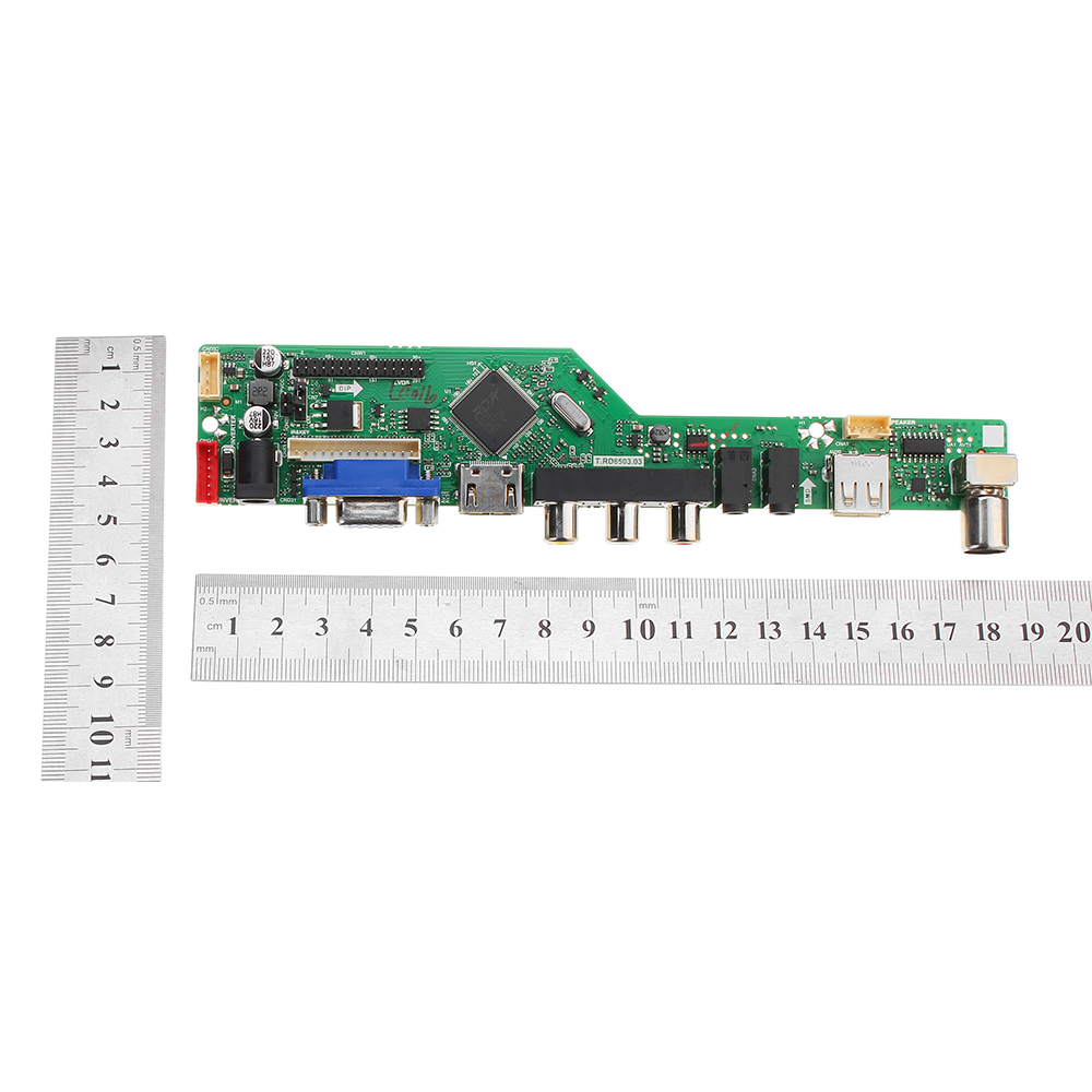 T RD8503 03 Universal LCD LED TV Controller Driver Board  TV/PC/VGA/HDMI/USB+7 Key Button+2ch 6bit 30pins LVDS Cable+1 Lamp Inverter