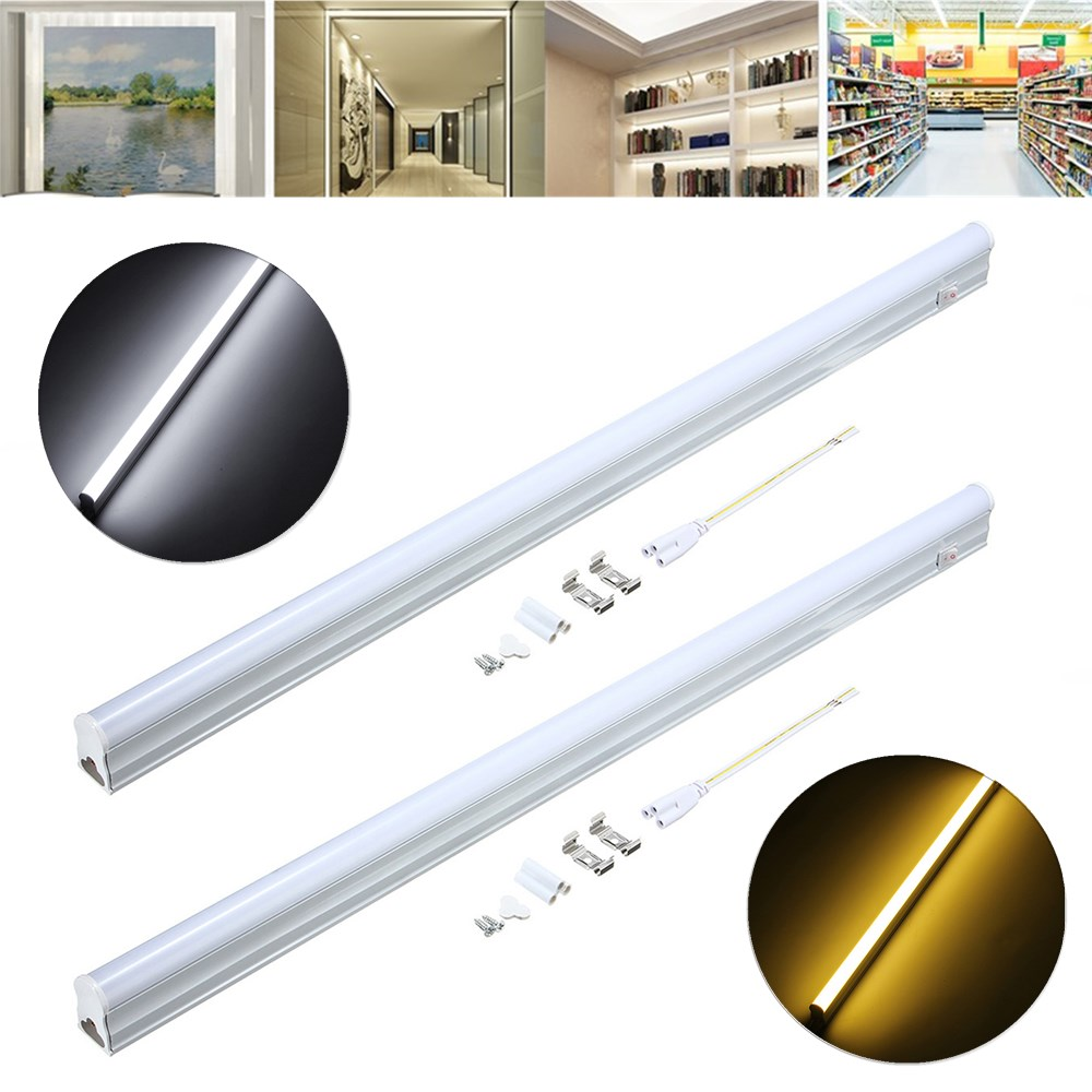 56 8cm 9w 800lm Smd2835 T5 Led Fluorescent Light With Switch Ac85 265v