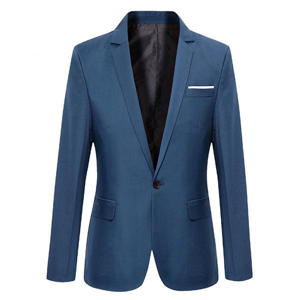 Купить со скидкой Men Casual Fashion Slim Fit Suit Jacket Blazers Coat 7 Color