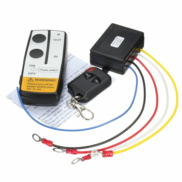 12V 315MHz 15m/50ft Winch In Out Wireless Remote Controller Switch Kit For Jeep Truck ATV SUV