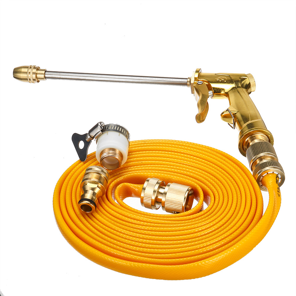 5M Pressure Washer Cleaning Hose Garden Tube with Extension Rod Water Spray Handle and 5 Nozzle