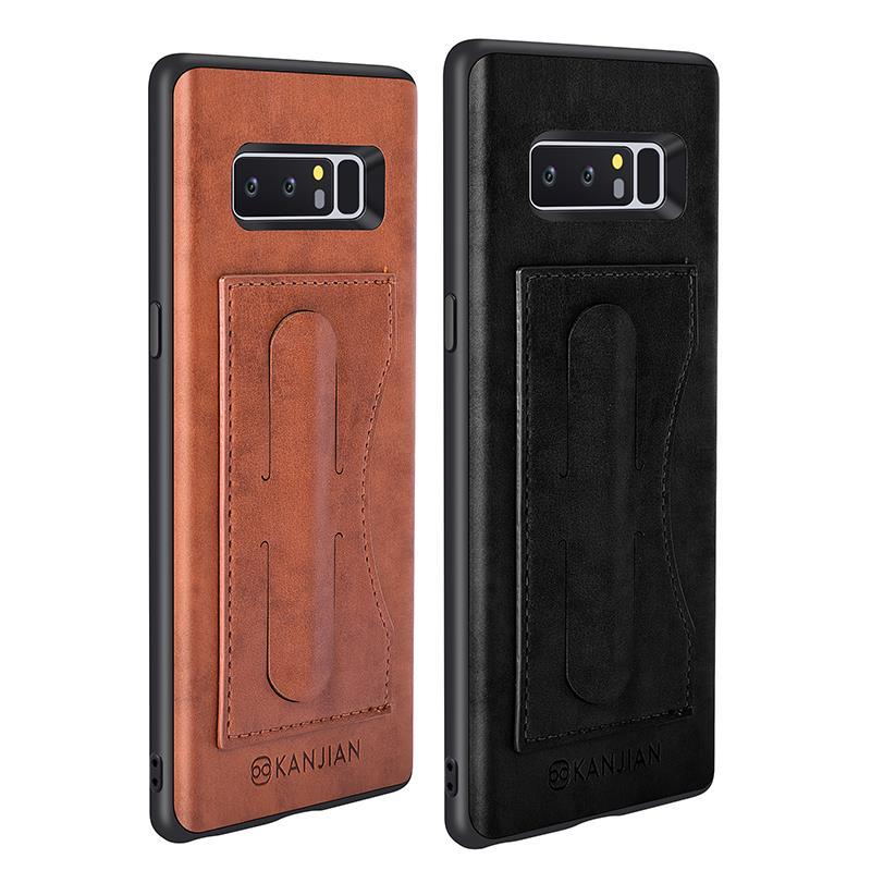 СлотдлякарточекКожаPUKickstand Магнитный Чехол для Samsung GalaxyNote8