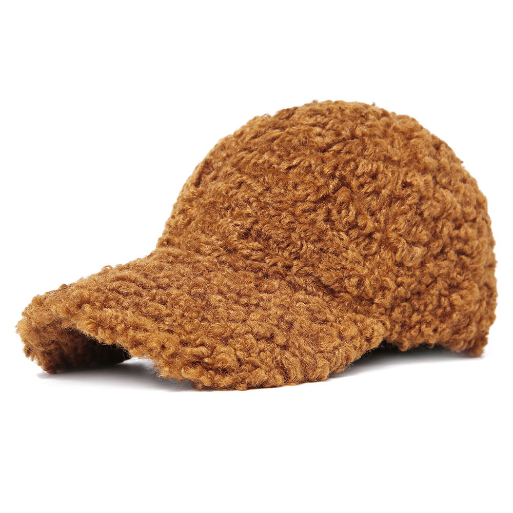 Unisex Warm Plush Adjustable Teddy Animal Hat Baseball Cap