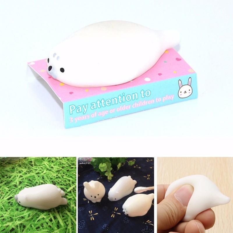 Печать Squeeze Squishy Игрушка Белый 4см Творческий Рождественский подарок