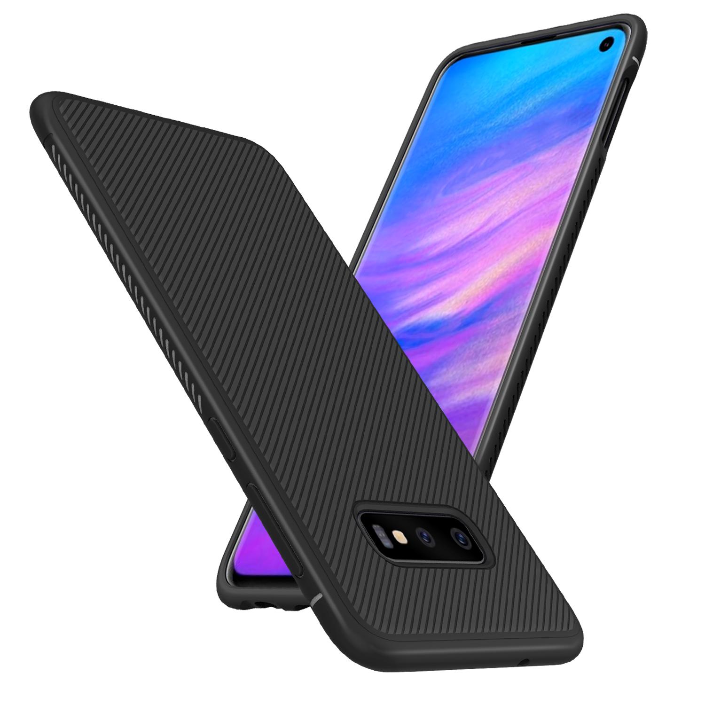 BakeeyУглеродногоВолокнаЗащитныеЧехолДля Samsung GalaxyS10e Противоударный Soft ТПУ Задняя Крышка