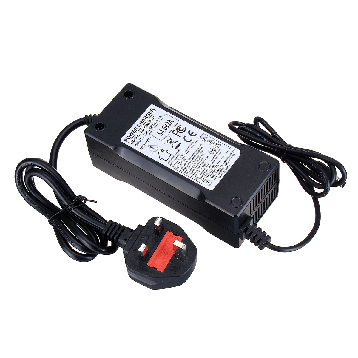 54.6V 5A 18650 Lithium Battery Charger for 48V Electric Bicycle E-bike scooters