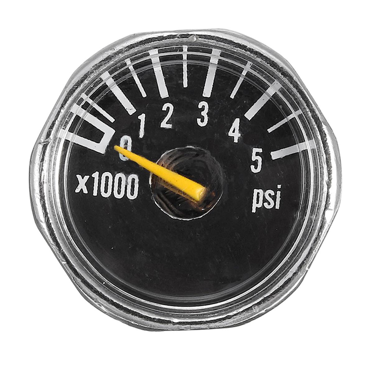 Микрометр 1 дюйм 25 мм от 0 до 5000psi Высокое давление для HPA Paintball Tank CO2 PCP
