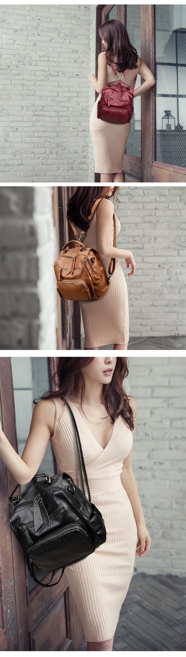 Suture Multifunction Bag Shoulder Bag Backpack Travel Bag For Women