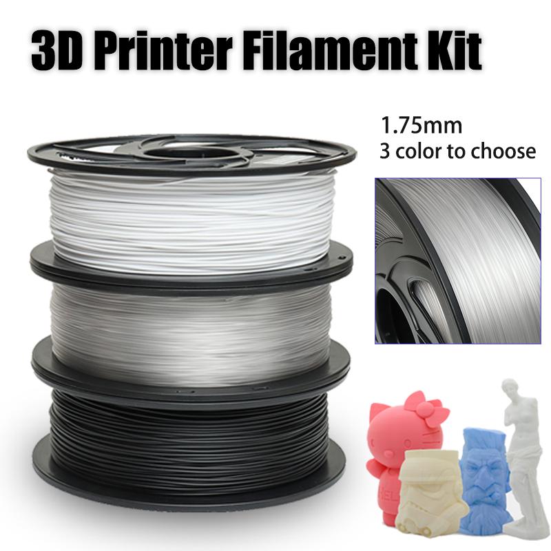 1KG 1.75mm PETG Filament Black White or Nude Color New Filament for 3D Printer 20