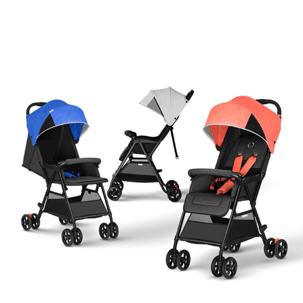 QBORN TQ02OS Легкая складная детская коляска Детская тележка Открытие / закрытие одной кнопкой Регулировка на 110-165 градусов Водонепроницаемы