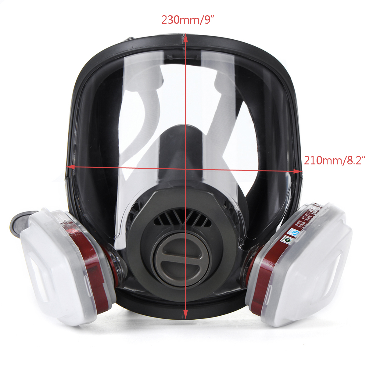 15 in 1 Full Face Gas Mask Facepiece Respirator Painting Spraying Mask 6800 Dust 22