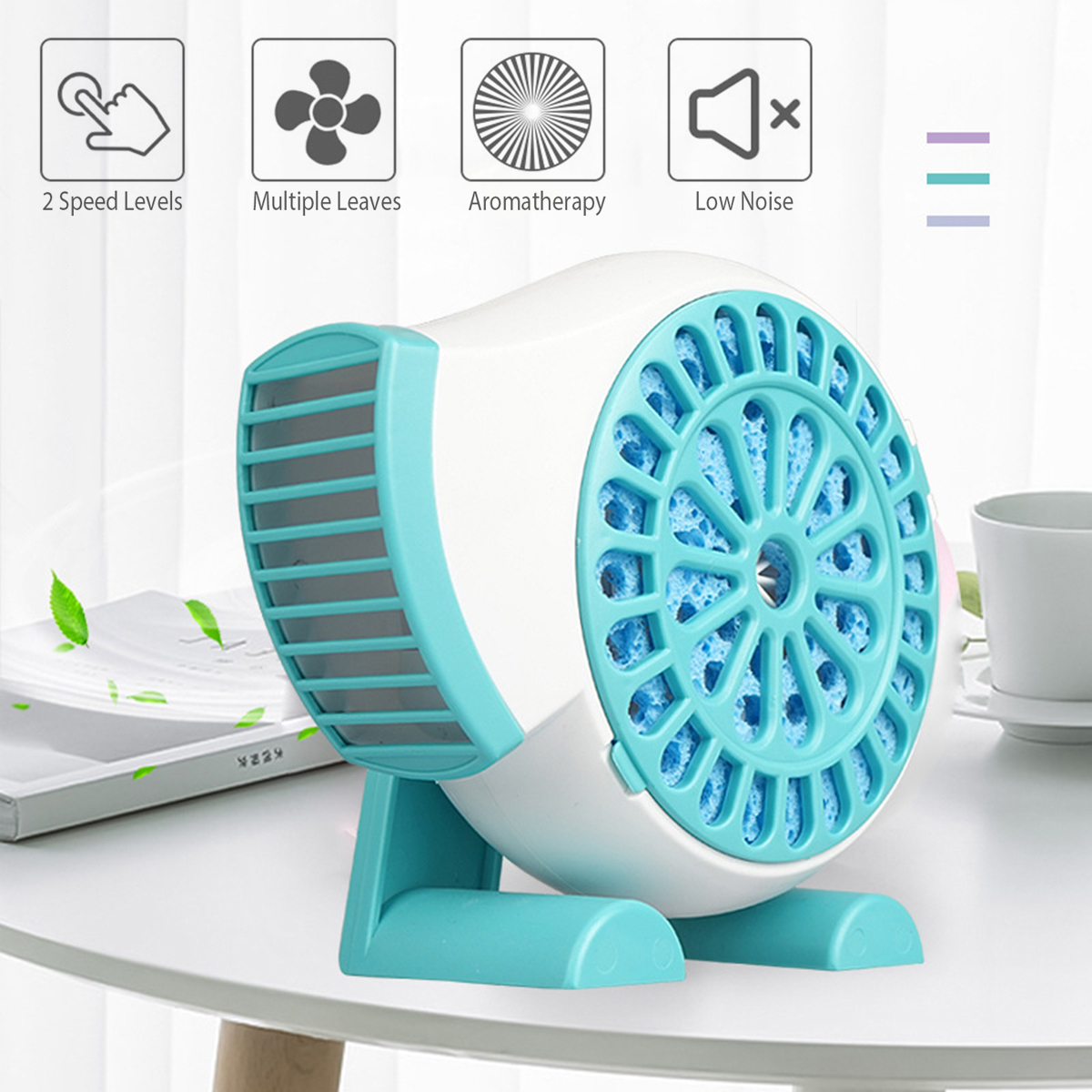 Creative Mini Fan Handheld USB Fan Rechargeable Strong Wind Cooling Fan Ultrathin Low Noise Summer Essentials