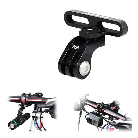 GUB 609 Алюминиевый адаптер держатель велосипеда с ЧПУ для Gopro Hero 5 4 3 Eken камеры крепления для фонарика-руля