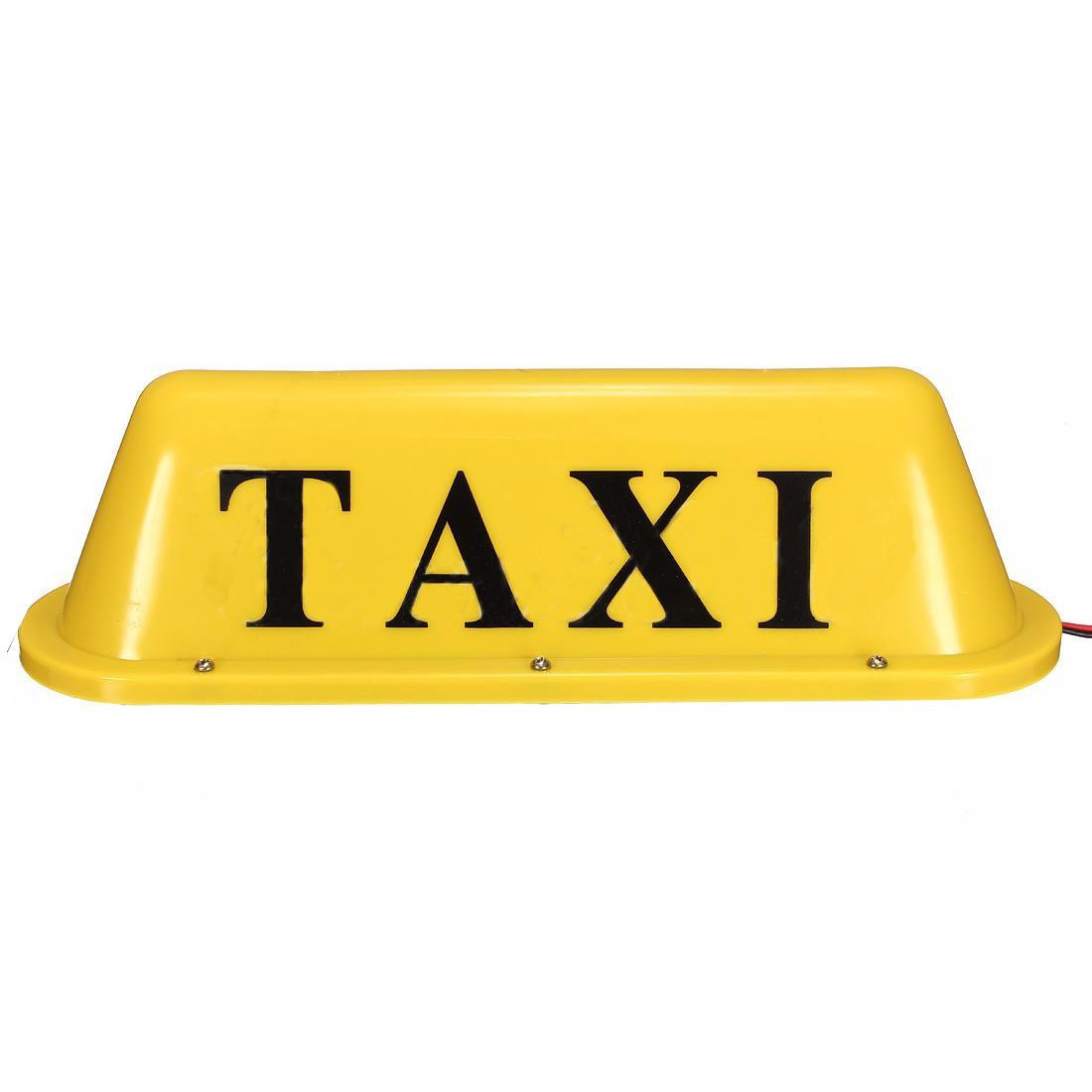 Кабина на крыше Знак Легкий Такси Магнитный LED Лампа Водонепроницаемы 12V Желтый
