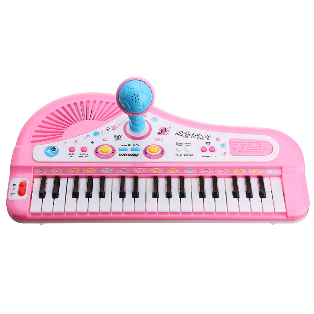 37 mini piano multifonctionnel électronique de clavier avec le piano éducatif de jouet de microphone pour des enfants