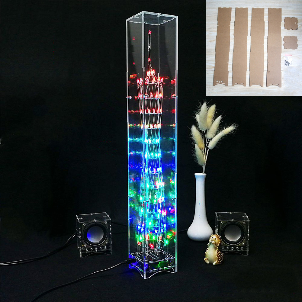 Acrylic Shell For DIY LED Light Cube Canton Tower Electronic Kit