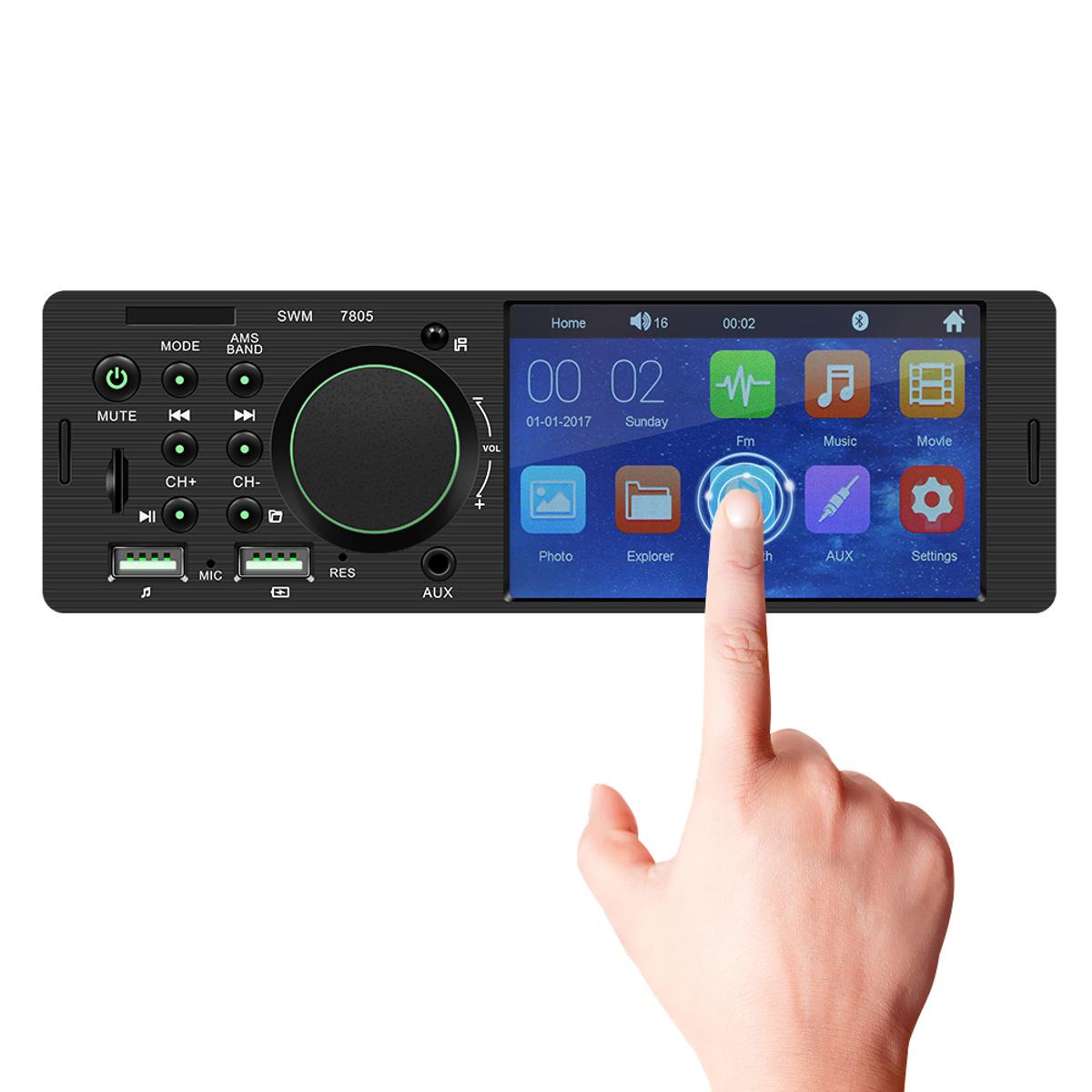 7805 4.1 дюймов ВЗДРАГИВАНИЯ Авто MP5-плеер 1DIN с сенсорным экраном Аудио-видео TF Автоd Bluetooth FM Радио Поддержка Автоema