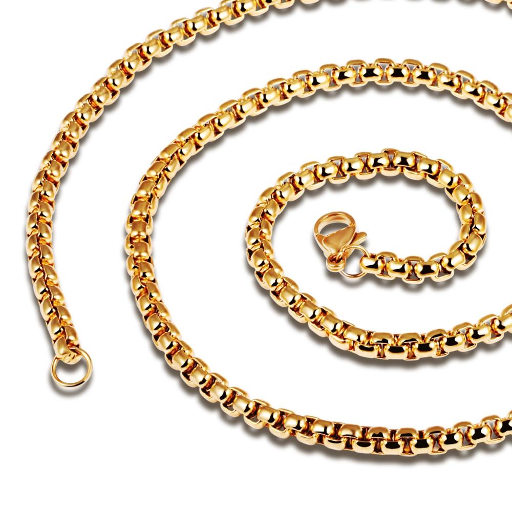 3мм × 55см Ожерелье из нержавеющей стали Цепное ожерелье