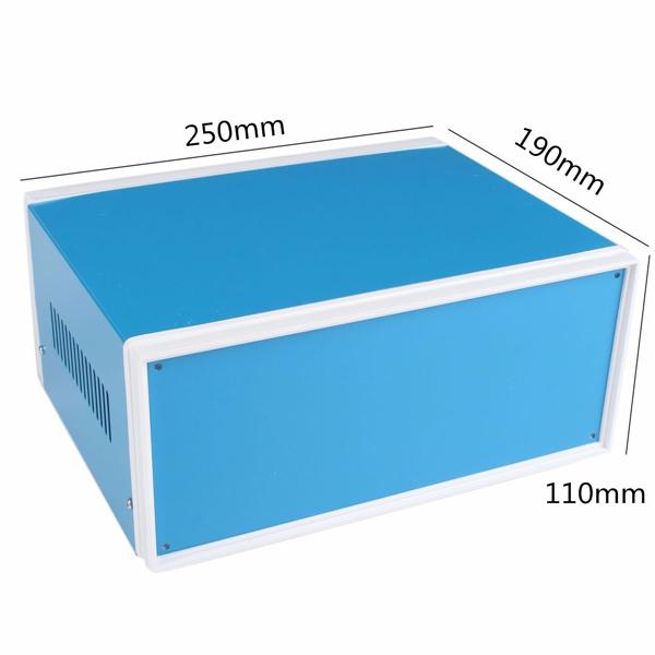 250x190x110mm Blue Metal Electronic Enclosures DIY Power Junction Box