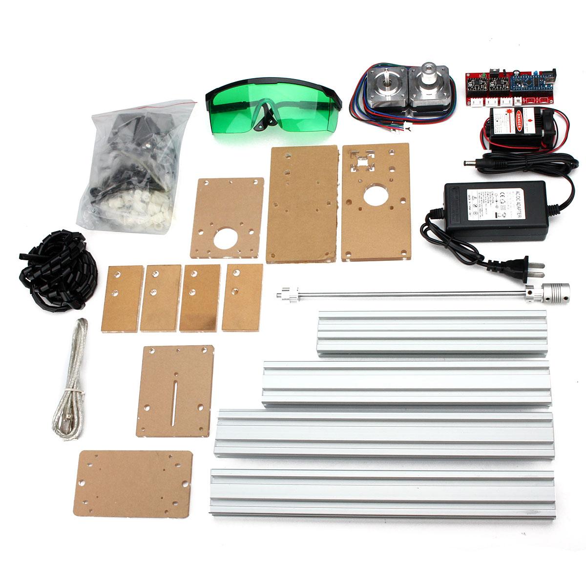 500MW Мин Лазер Гравировальный станок DIY комплект Рабочий стол Лазер Резка 200X170 мм Гравировка Площадь