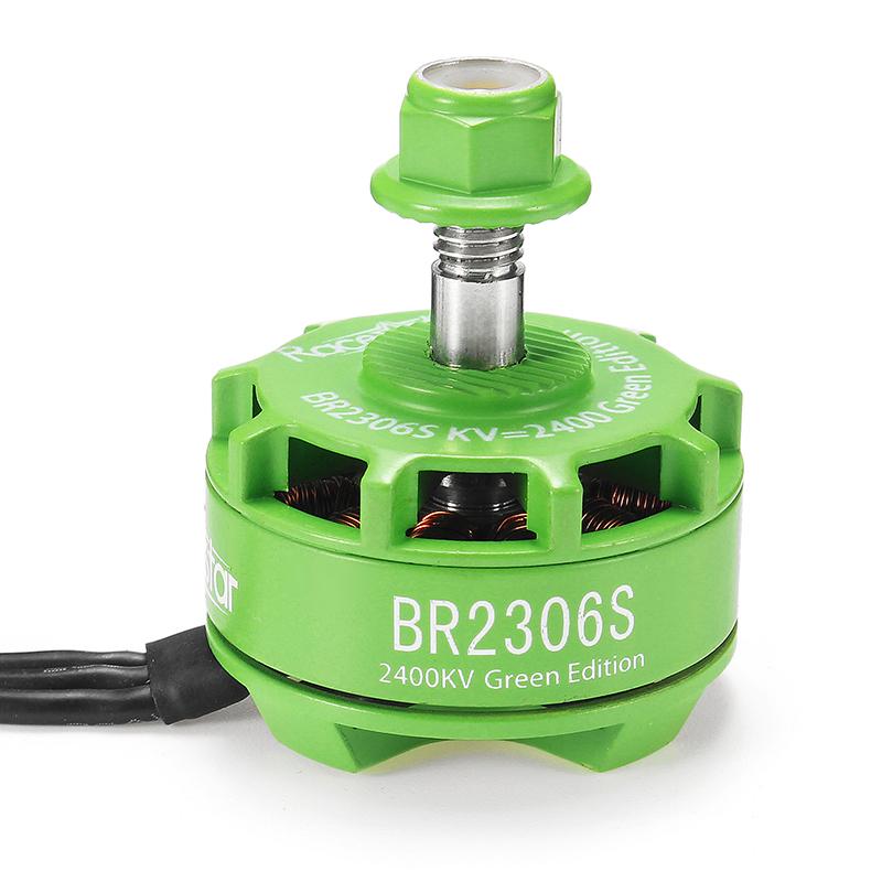 Racerstar 2306 BR2306S Green Edition 2400KV 2-4S Brushless Motor For 210 220 250 300 RC Drone FPV Racing