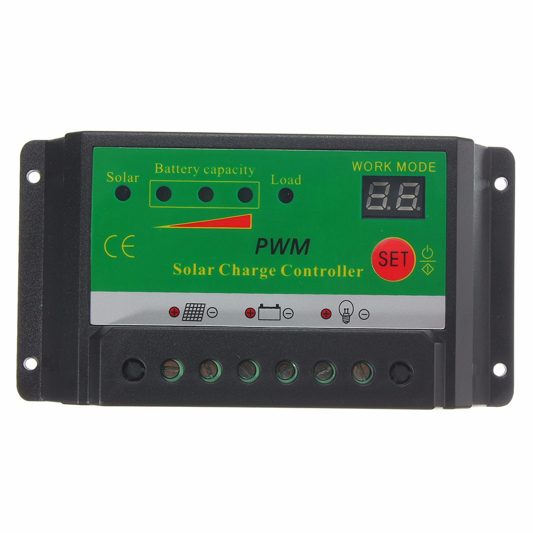 10A 12V/24V LCD Solar Panel Battery Regulator Charge Controller Switch PWM