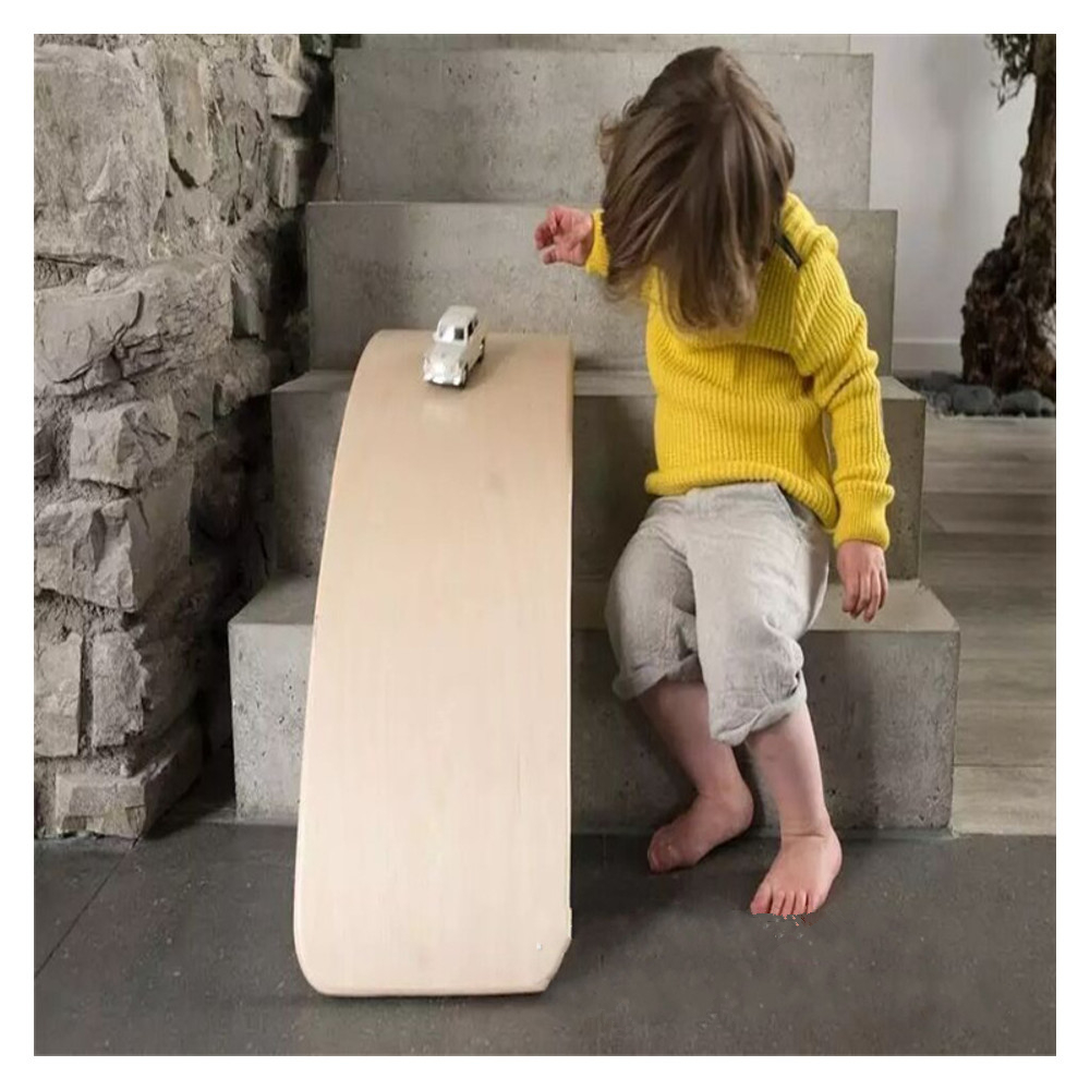 Children's Wooden Balance Board Trampling Sensory Training Equipment Wall Curved Balance Board Indoor Toys