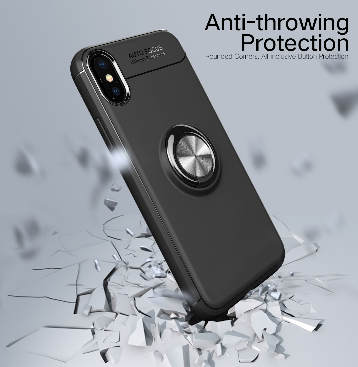 e563f3d54ee833 c-ku protective case for iphone xs max 360º rotating ring grip ...