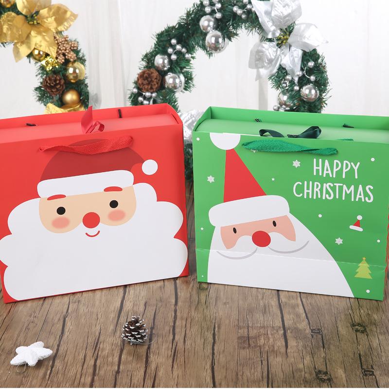 С Рождеством Христовым Коробка Санта-Клаус Бумага Висячая Конфета Коробка DIY Красочный День Рождения Подарок Партии Коробкаes